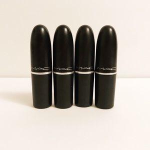 Set of 4 MAC Cosmetic Lipstick 💄